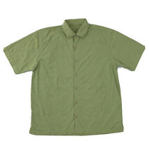 Tommy Bahama Silk Shirt Men's Large Short Sleeve Green Floral Button Down