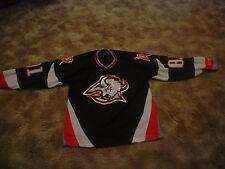 Vtg CCM MIROSLAV SATAN #81 Jersey LARGE Sewn, Buffalo Sabres Hockey NHL,with cap