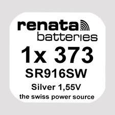 1x Renata 373 Uhren-Batterie Knopfzelle SR916SW Silberoxid Blisterware Neu