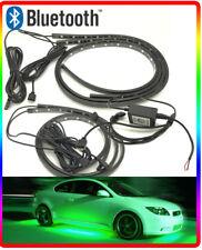 Controllo Bluetooth Multicolore Led Undercar TERRA NEON KIT 4 PZ Strisce 12v