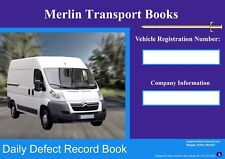 VAN & PICK-UPs  DRIVERS DAILY DEFECT BOOK  (MINISTRY OF TRANSPORT COMPLIANT)