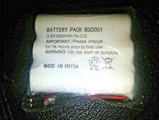 Rechargeable 3.6V 600mAh Ni-Cd Battery Pack (BG0001)