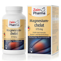 Magnesiumchelat 120 Kapseln Tabletten 112mg Made in Germany