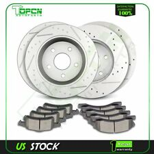 Front + Rear Brake Rotors Ceramic Pads For 99 00 01 02 03 04 Jeep Grand Cherokee