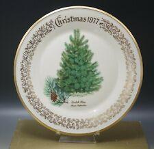 """Lenox Vintage Bone China Christmas Tree Plate Scotch Pine 1977 Mib 10.75"""""""