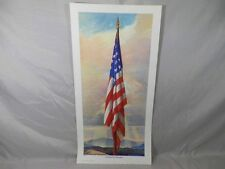 Vintage 1941 Sentinel of Freedom American Flag Print Adrian Brewer Patriotic Art
