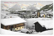 Austria, Kitzbuhel, Tirol, Looking South PPC c1908 Snowy Winter View