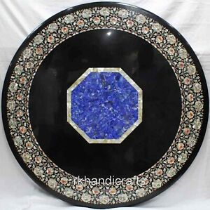 48 Inches Mother of Pearl Inlaid Conference Table Top Marble Dining Table Top