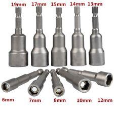 6-19mm Steck Nuss Bitsatz Steckschlüssel 10-tlg für Akku Schrauber Bohrmaschine