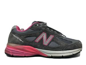 New Balance 990v4 Made In The USA W990GP4 Sneakers, Women's Size 10 2E Gray/Pink