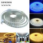 1-10M 5050 LED Flexible Tape Rope Strip Light Xmas Outdoor Waterproof US/EU Plug