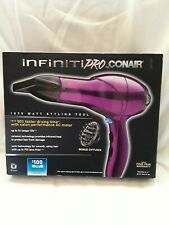 NIB CONAIR PRO STYLER Hair Dryer IONIC LESS FRIZZ Diffuser/Concentrator Magenta