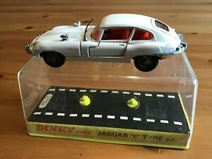 DINKY 131 E TYPE JAGUAR WHITE ORIGINAL AND BOXED