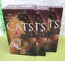 Incredible World Of Cats documentary 2-Vhs history 1996 pet industry A&E