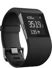 Fitbit Surge Fitness Watch GPS Heart Rate Monitor BLACK Large FB501 #5VpOt