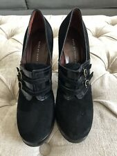 Marc by Marc Jacobs Italy Black Leather Suede Pumps Block Heels Sz 39.9