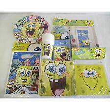 SpongeBob SquarePants Surf Birthday Party Tableware Complete Party Pack