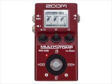 Zoom MULTI STOMP Bass Multi-Effects Pedal Amp Simulator MS-60B  New