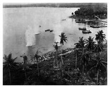 Bomber Attacks At  Hansa Bay New Guinea 8x10 WWII Silver Halide Photo