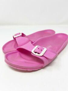 Birkenstock EUR 39 US 8.5 Pink Madrid Essentials EVA Foam Rubber Slides Sandals