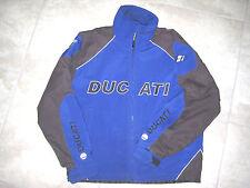 DUCATI Austin Texas Motorcycle Club Jacket Blue Black USED Preowned Hooded