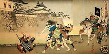 Samurai Warriors Battle escena de lucha Torri suneemon Ashigaru Japón 7x4 pulgadas impresión