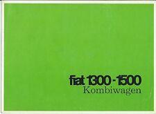 Fiat 1300 1500 Kombiwagen German Language Brochure Catalog Prospekt circa 1963