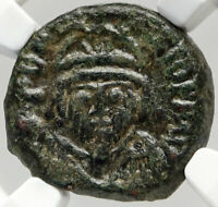 PHOCAS Authentic Ancient Half Follis of CARTHAGE BYZANTINE Coin NGC i83552