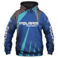 Polaris Industries Hoodie-Zip Hoodie-Sweatshirt - Free shipping-Top Men's shirts