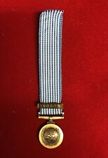 UN United Nations Korea Medal Miniature Medal Brand New With Ribbon