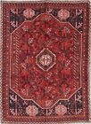 One-of-a-Kind Geometric Tribal Abadeh Oriental Hand-Knotted Wool 7'x9' Area Rug