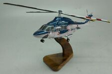 Agusta Westland AW-139 Bristow Helicopter Wood Model Replica Free Shipping
