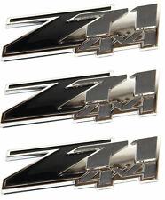 (3) Z71 4x4 Black Emblems 3M Chevy GMC Silverado Tahoe Suburban Sierra
