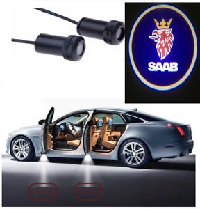 LED Logo SAAB 2x Tür Shadow Licht Einstiegsbeleuchtung Projektor for Alle