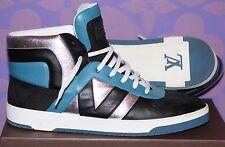 LOUIS VUITTON 'Tribe' Damier Hi-Top Sneaker Boot Teal/Slvr 12/13-13.5 US LIMITED