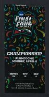 2018 NCAA CHAMPIONSHIP GAME FULL UNUSED BASKETBALL TICKET - VILLANOVA v MICHIGAN