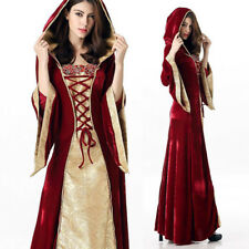 Vintage Renaissance Medieval Halloween Costume Women Fancy Dress Party Outfit