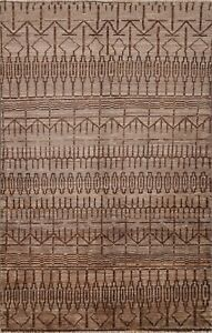 Geometric Gabbeh Traditional Oriental Area Rug Hand-knotted Wool Carpet 3x5 ft