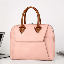 "15.6"" Ladies Laptop Leather Bag Briefcase Womens Work Bag Large Office Handbag"