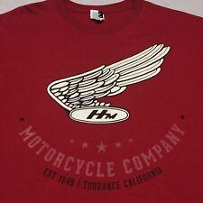 Honda Dirt Bike Atv Utv Off Road Racing T Shirt Large Motor Cycle Club Track Red