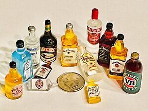 Dollhouse Miniature Beer Drink Liquor Lot 👻🧲 (13) Pc Hard Alcohol Assorted Set