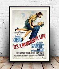 Es ist ein wunderbares Leben: Klassisches Filmposter Reproduktion