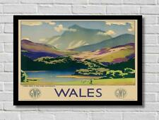 Vintage Wales By Train GWR Railway Tourist Travel Poster Print Picture A3 A4