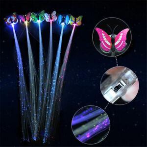 Shining Hair Braids Barrette LED Fiber Hairpin Clip Light Up Headband Glow lot