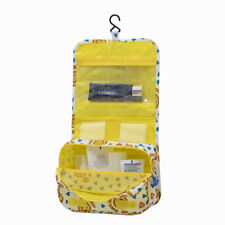 Lady Makeup Wash Bag Toiletry Cosmetic Travel Hanging Fold Organizer Case Holder Blue Flower