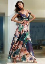 BNWT Forever Unique Billie Floral Cold Shoulder Chiffon Maxi Dress UK10 RRP £350