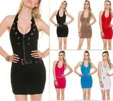 Sexy Koucla Neckholder Kleid Dress Party  Minikleid mit Gürtel