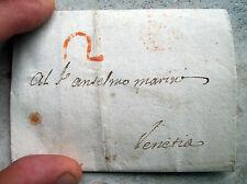1760 CURIOSA PREFILATELICA DA PADOVA A VENEZIA SU PENNACCHIERE DA CAPPELLO