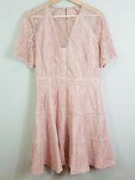 FOREVER NEW | Womens Violet Lace Dress Pink NEW$149.95 [ Size AU 14 or US 10 ]