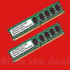 2GB Kit 2 x 1GB DDR2 PC2-5300 667 MHz LOW DENSITY 240-pin Desktop Memory RAM